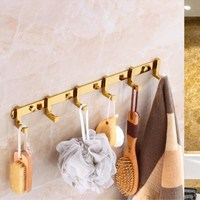 Solid Brass Wall Mounted Clothes Rack Cloth Hook Wall Hook Clothes Hanger For Bathroom Accessory Kitchen Rack