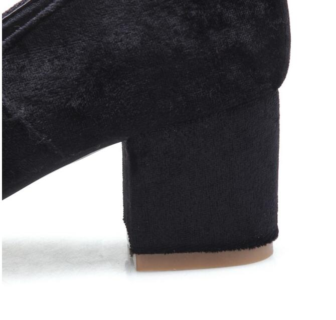Talons Hauts Chaussures Strass green Vogue Med Janes Des Troupeau Femmes Taille 66 kakaki Boucle red Ol Femme Black Pompes Joli Plate Mary forme 21 xPEzCwtq