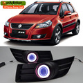 EeMrke Angel Eyes LED DRL Дневные Ходовые Огни Для Suzuki SX4 хэтчбек Противотуманные Свет Лампы Галогенные Лампы H11 55 Вт