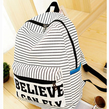 Women Backpack for teenager girls Handmade Vintage Rucksack Striped Canvas notebook Mochila female School laptop Sale brand Bag