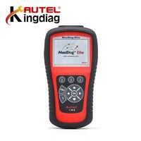 100% Oryginalny Autel MD802 MaxiDiag Elite MD802 Wsparcie 4 System Reset OBD2 Kod Skaner Automotive Diagnostic Tool online Update