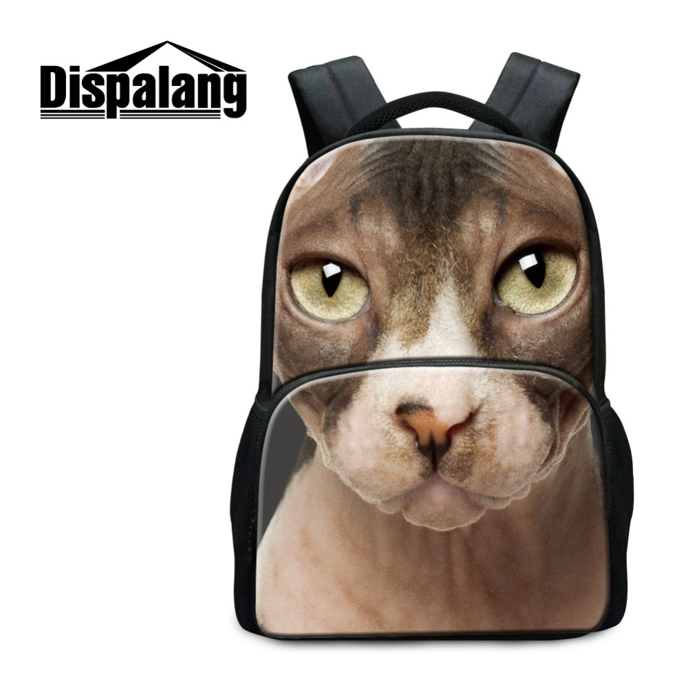Dispalang Large Capacity Animal Printing Mens Women Backpack Cat Dog School Bags For Teenager Casual Travel Bag Mochila Feminina men backpack student school bag for teenager boys large capacity trip backpacks laptop backpack for 15 inches mochila masculina