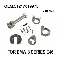 x10 Set For BMW 3 Series E46 DOOR LOCK LOCK CYLINDER REPAIR KIT FRONT LEFT OR RIGHT OE 51217019975