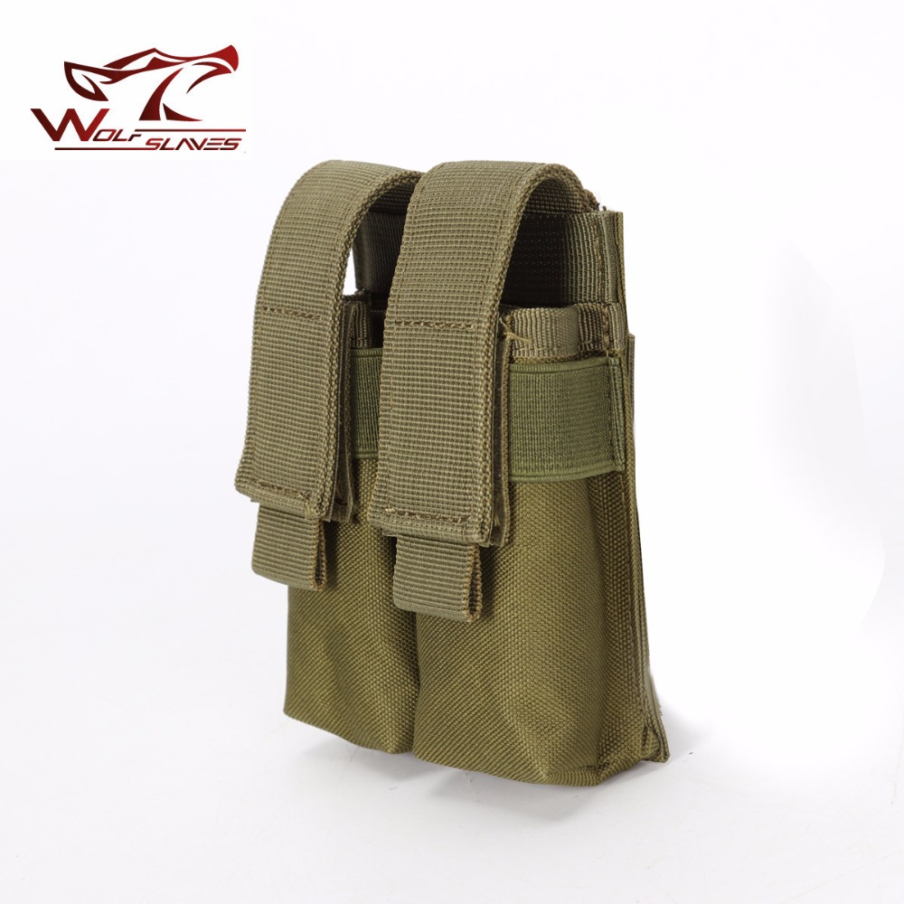Tactical Pistol Magazine Pouch MOLLE Double Mag Holder 1000D Nylon Military Airsoft Outdoor Hunting Accessories