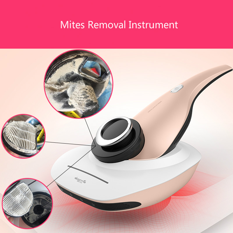 2018 Deerma Household Bed Vacuum Cleaner To Remove Mites Handheld UV Sterilizer Mites Removal Instrument dibea dibei uv 808 household bed in addition to sputum instrument uv sterilization bed in addition to smashing efficient demite