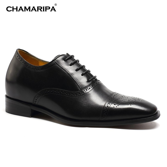 CHAMARIPA Zapatos Planos con Cordones Hombre, Color Negro (37, Negro)