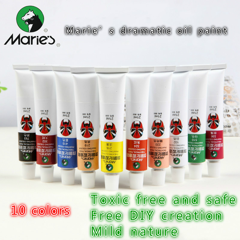 Free Shipping 10 Colors Maries Dramatic Oil Paint Halloween Body Painting Opera Theatrical Mask Paint Party DIY Makeup Pigments