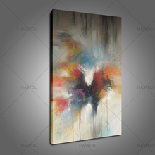 100% Handpainted High Quality Abstract Canvas Oil Painting Wall Art colorful abstract for Living Room office decor