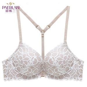 Image 3 - PAERLAN ön kapatma tel ücretsiz dantel çiçek hit renk dikişsiz sutyen küçük göğüs Push Up Y şeklinde seksi geri güzellik iç çamaşırı kadın