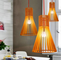 American Country Loft Style LED Pendant Light Fixtures Simple Modern Wood Art Droplight For Home Indoor Lighting Hanging Lamp