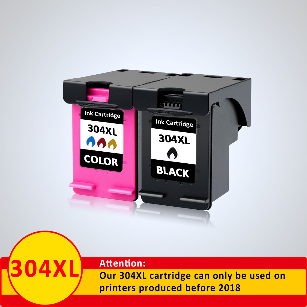 XiangYu 2Pack 304XL Cartridge for HP 304 304xl N9K08AE N9K07AE Ink Cartridge for HP Deskjet 2620 2630 2633 2634 3720 3730 ip304XiangYu 2Pack 304XL Cartridge for HP 304 304xl N9K08AE N9K07AE Ink Cartridge for HP Deskjet 2620 2630 2633 2634 3720 3730 ip304