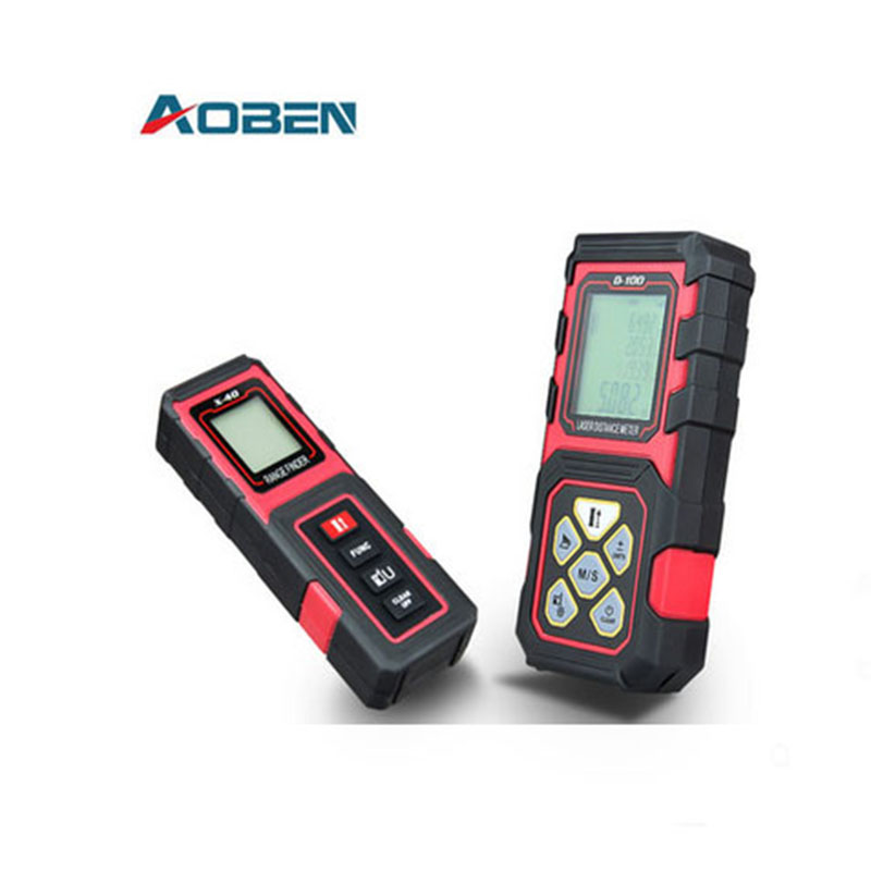 AOBEN handheld laser rangefinder infrared sensor precision electronic measuring instruments 40mtr laser measuring tape Room clear fit mtr 40 110