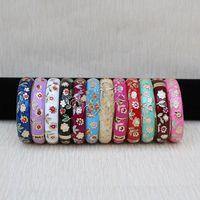 FREE SHIPPING>>>@@ Wholesale10 PCS Stunning Chinese handmake Cloisonne Enamel Cuff Bracelet BANGLE