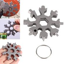 Wyposażenie edc snowflake klucz narzędzie brelok hex wielofunkcyjny multitool kieszonkowy odkryty klucz imbusowy śrubokręt multi uniwersalny tanie tanio Tegoni CN (pochodzenie)