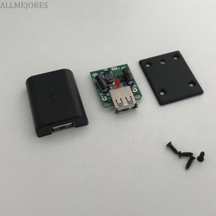ALLMEJORES Solar Panel Power Bank 5V 2A USB Charger Voltage Controller Regulator 6V-20V Input 5V Output With LED Indicator