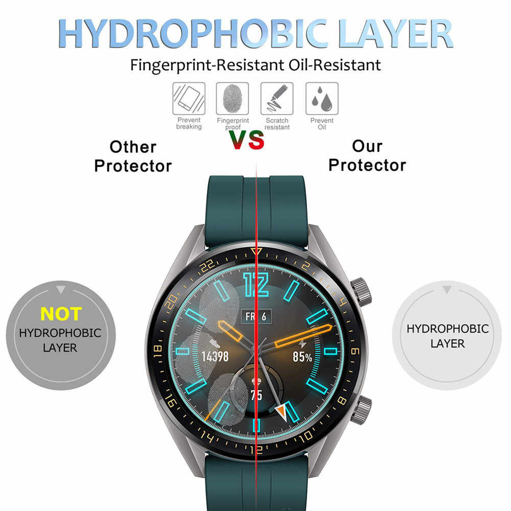 8c144c949 ... Tempered Glass Film For Huawei Watch GT Active Elegant Tempered Glass  Screen Protective Film Guard Anti ...