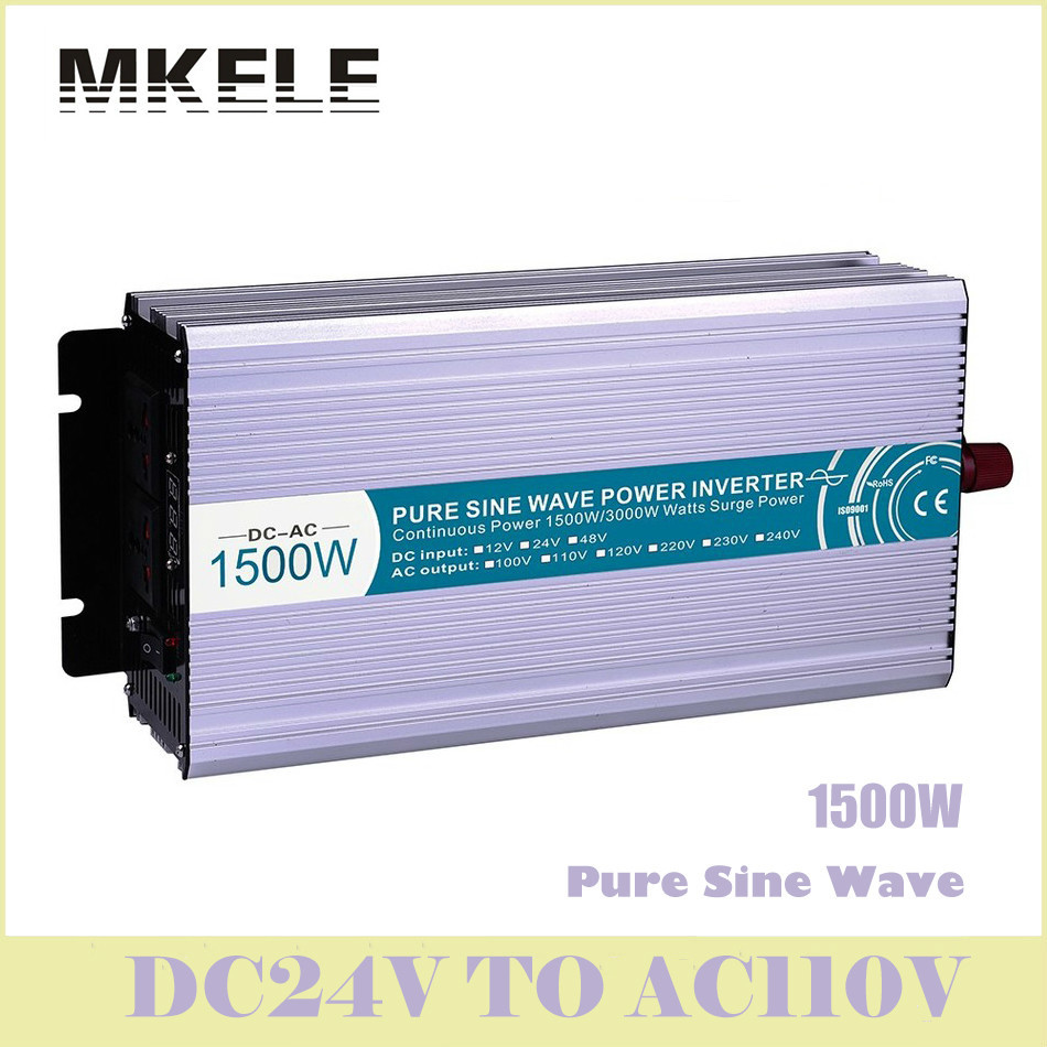 New MKP1500-241 1500w Inverter 24v To 110v  Dc-Ac Pure Sine Wave Voltage Converter Solar LED Digital Display China inverter mkp1500 122 1500w 12v to 220v pure sine wave voltage converter solar led digital display china