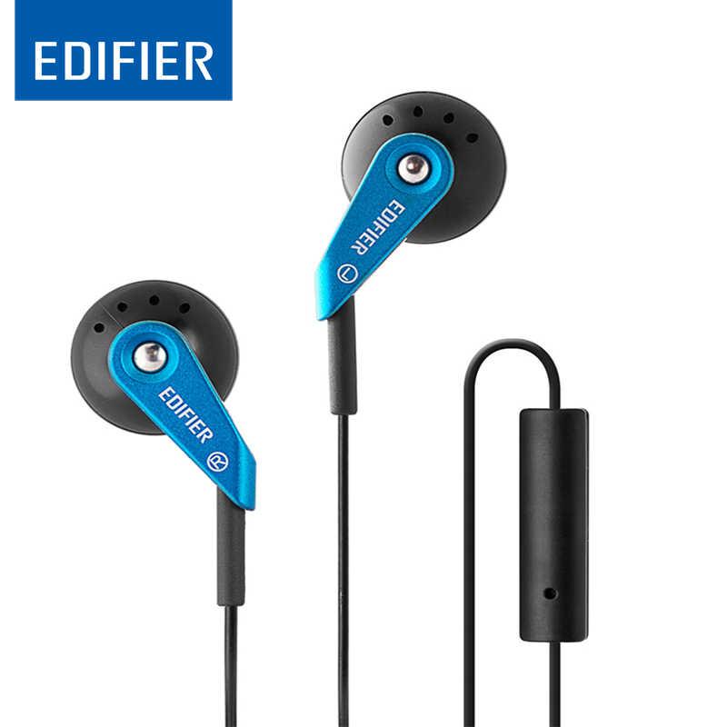 EDIFIER P185 douszne słuchawki Hi-Fi 3.5mm AUX słuchawki klasyczne słuchawki douszne słuchawka z mikrofonem dla iphone Samsung Xiaomi LG