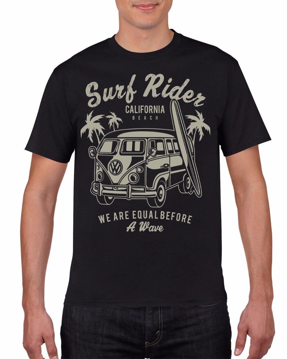 2018 High Quality T Shirt Printing Rider Van Mens T Shirt Black Tee