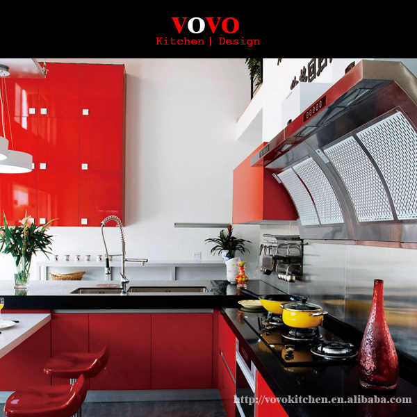 Kitchen Cabinet Supplier In: Alibaba Gold Supplier Modern Red Lacquer Kitchen Cabinet