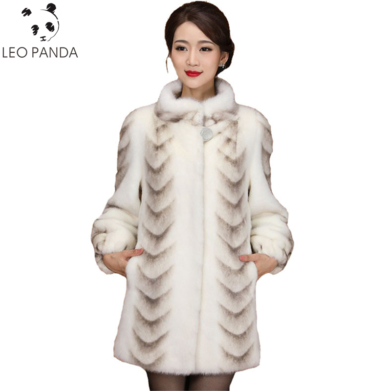 Superior Quality Real Mink Fur Coat Women 2019 New Winter Full Sleeve Thicken Warm Long Genuine Natural Fur Coats Plus Size 3XL