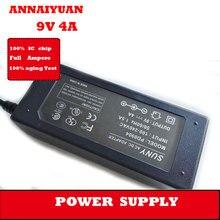 10 pçs/lote 9 V 4 Uma fonte de alimentação 250g 50/60Hz 36 W adaptador de energia do monitor 5.5*2.5 milímetros de energia do monitor adaptador de alimentação
