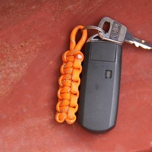 7 Core Reflective Paracord Pendant Keychain With Key Ring EDC