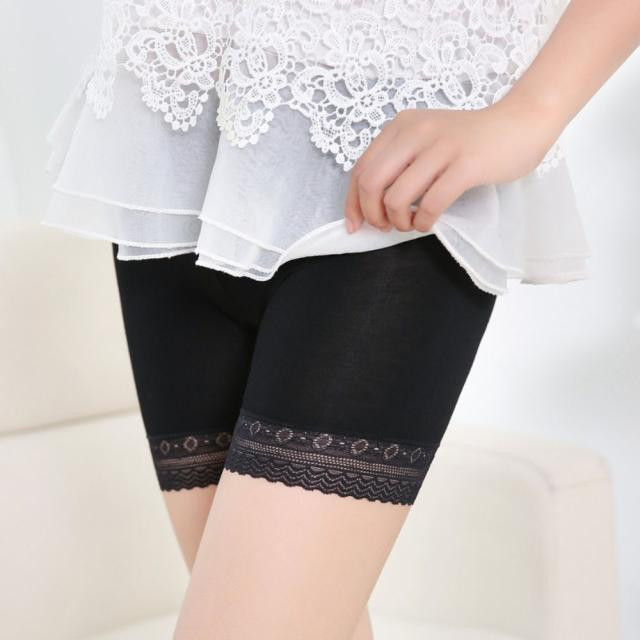 Women Lace Safety Short Pants Summer Under Skirt Shorts Breathable Short Tights For Dress