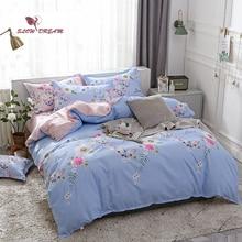 SlowDream Bedding Set Nordic Bedspread Double Queen King Duvet Cover Flat Sheet Bed Linen Home Textiles Quilt