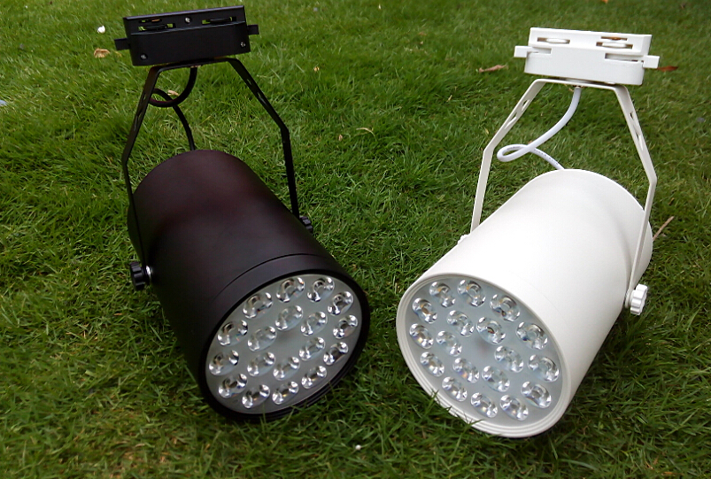 18W LED Track Lights Indoor Lighting 85-265V AC Red Blue Green Warm white Cool white Natural white CE ROSH High Power 18X1W Lamp 5pcs lot 18w warm white rgb led floor lamp high power taiwan led epistar led ground lighting ce ip68 waterproof ac85 265v