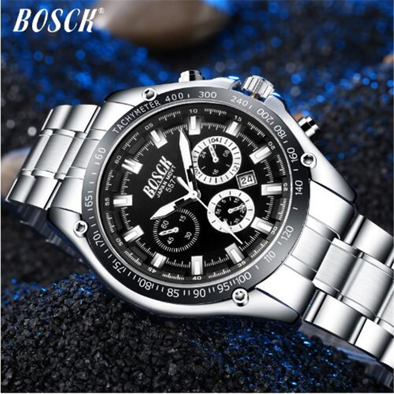 BOSCK Relogio Masculino Männer Uhren Luxus Berühmte Top Marke Herrenmode Casual Kleid Uhr Military Quarz Armbanduhren Saat