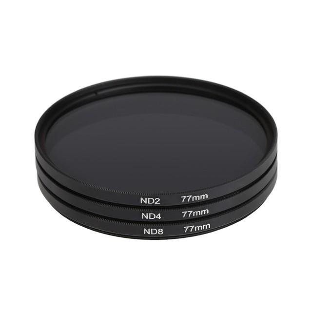ND Filter Neutral Density ND2 ND4 ND8 Filtors 49MM 52MM 55MM 58MM 62MM 67MM 72MM 77MM Photography for Canon Nikon Sony Camera