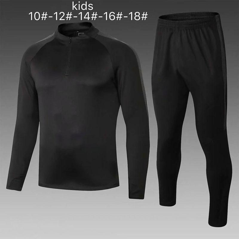 Мальчик, спорт комплекты зимняя одежда для маленьких мальчиков быстросохнущая полиэстер теплый Футбол training костюм футболка + брюки мальчик...