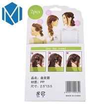 M MISM 2 PCS Fashion Ladies Donut Bun Maker Magic Easy Braid Women Korean Round Hair Disk Device Tress DIY Hair Style Tools
