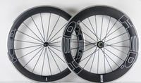 Newest 700C Front 60mm Rear 80mm Clincher Rims Road Bike Matte 3K Carbon Bicycle Wheelset With