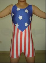 Discount Lycra Spandex Wrestling Singlet Youth Usa National Flag Pattern  Outfit Bib Shorts Costume Cheap