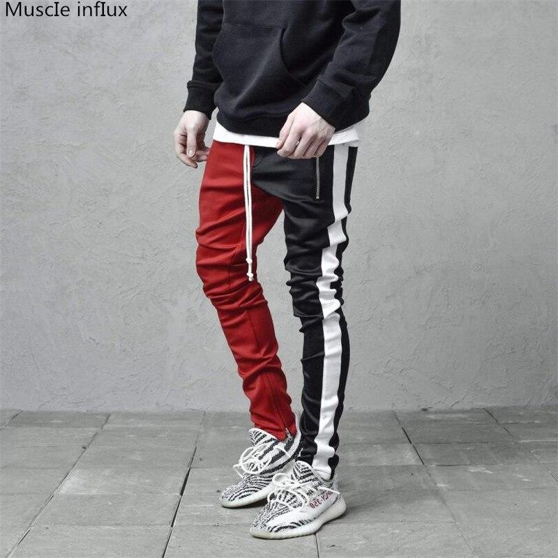 New Men Sports Running Pants Pockets Athletic Football Soccer Pant Training Sport Pants Elasticity Legging Jogging Gym Trousers