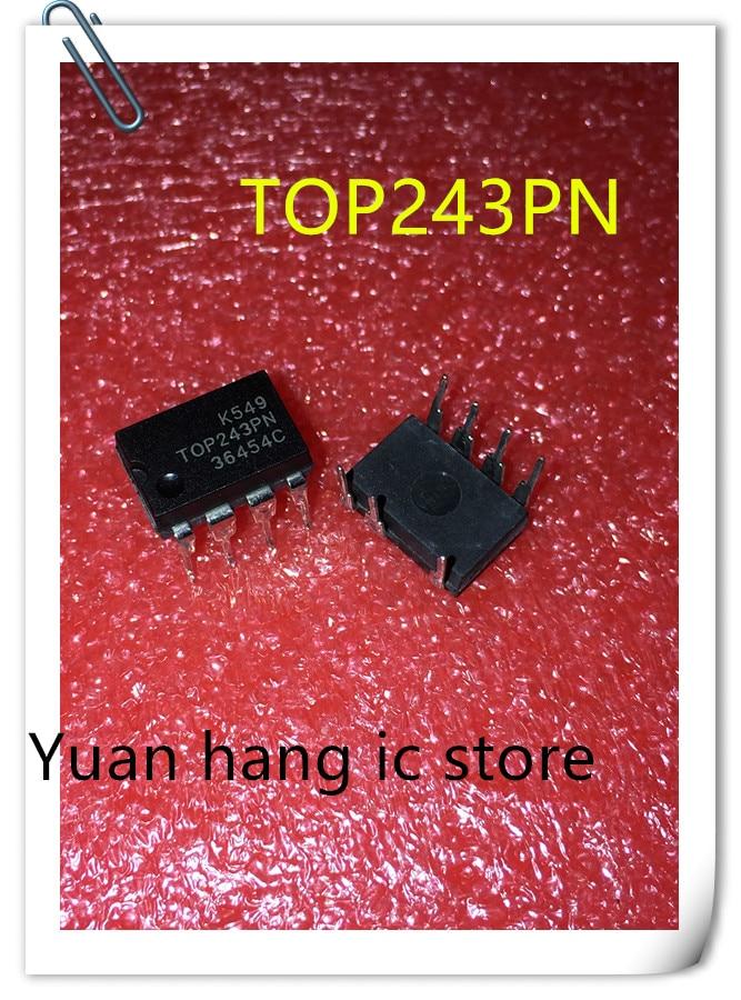 10PCS/LOT TOP243PN TOP243P TOP243 DIP-7 Power Management IC Chip New Original