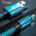 Cable Micro USB 2A 1 m de carga rápida Nylon USB Sync datos teléfono móvil Android Cable adaptador cargador para Samsung sony HTC LG Cable