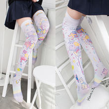 Носки женские длинные выше колена из полиэстера 5 sw08
