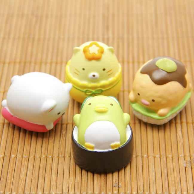 1 шт. новый ZAKKA Sumikko Gurashi Еда медведь кошка DIY мини цифры модель Фигурка детские игрушки украшения дома Пейзаж куклы коллекционная