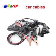 10pcs DHL free  Quality A++ TCS CDP Pro  OBD OBD2 full set 8 Car Cables Diagnostic set 8 car cables For  TCS CDP Pro