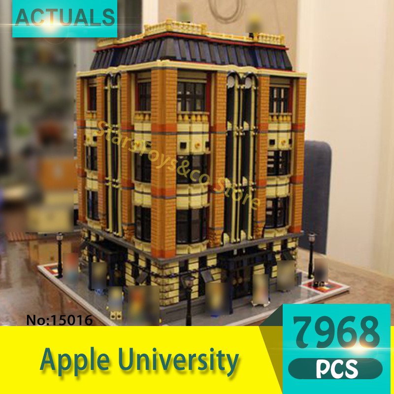 Lepin 15016 7968Pcs Street View series Apple University Model Building Blocks Set  Bricks Toys For Children  Gift heys canada 15016 0017 21