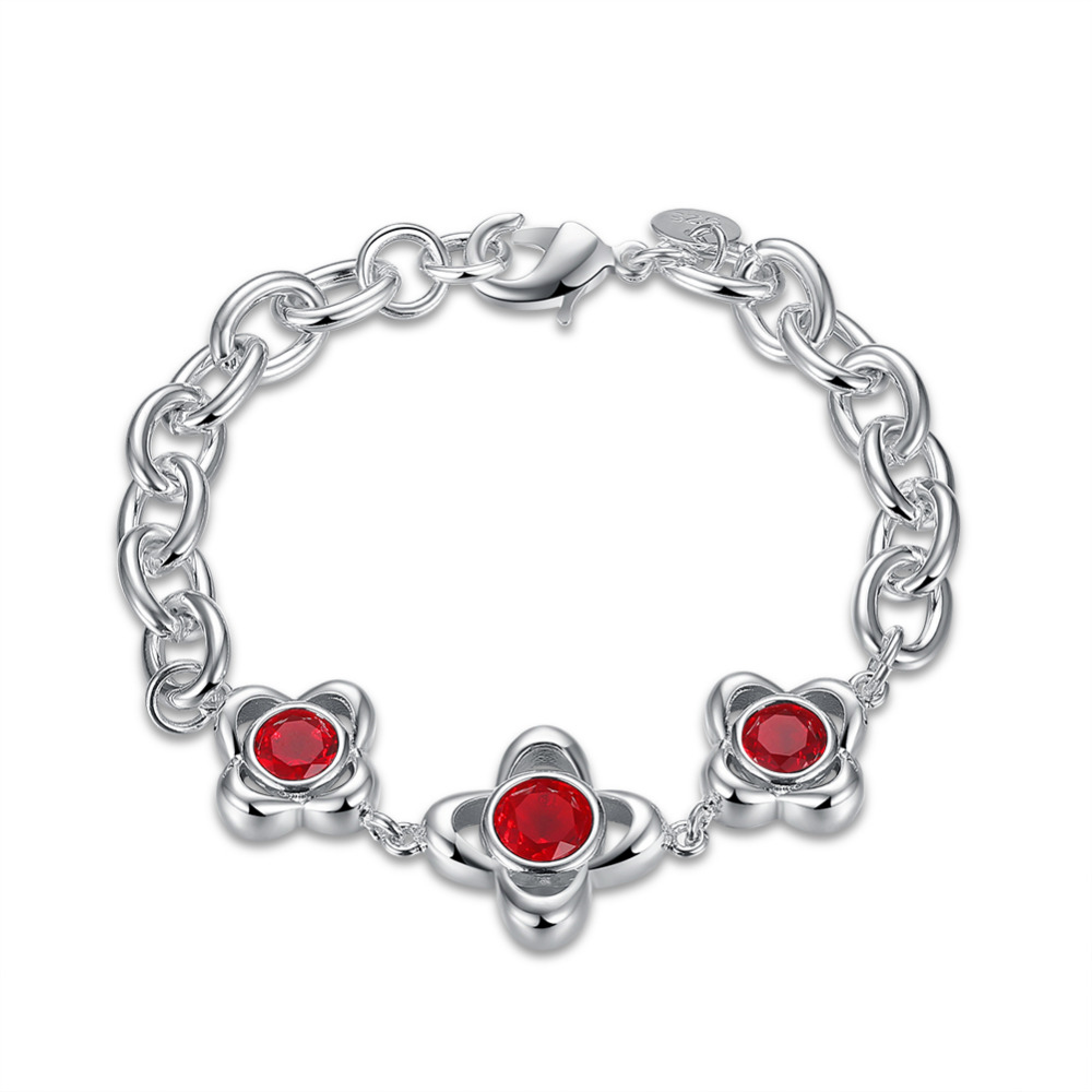 Factory price top quality 925 silver&Stamped 925 three red