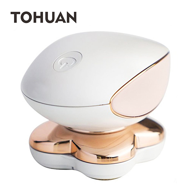 4 Heads Painless Lady Shaver Hair Remover Instant Women Epilator Body Hair Removal Leg Underarm Electric Depilator USB Recharge