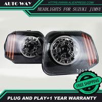 Car Styling Head Lamp for Suzuki Jimny Headlights Jimny 2007 2015 LED Headlight H7 D2H Hid Option Angel Eye Bi Xenon Beam