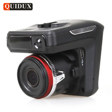 QUIDUX Russian GPS Radar Detector 1080P Car DVR Full HD Auto Video Camera Recorder Dash Cam Tracker 2.4″ Screen