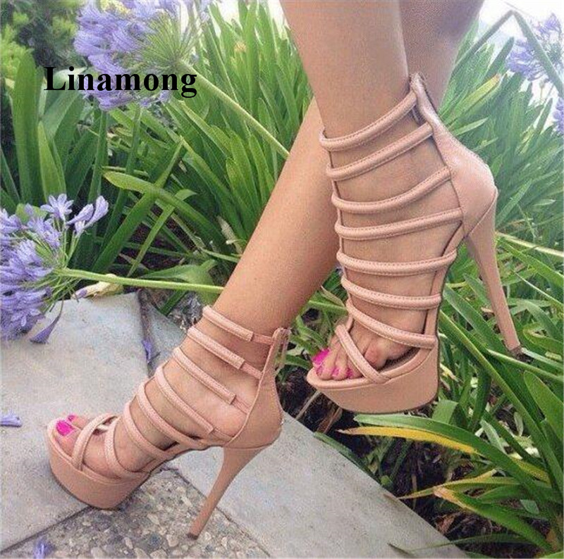 2018 Summer Sandals Thin High Heels 3-5cm Waterproof Platform Women Sandals T-Strap Cover Heel Rear zipper Fashion Sandals2018 Summer Sandals Thin High Heels 3-5cm Waterproof Platform Women Sandals T-Strap Cover Heel Rear zipper Fashion Sandals