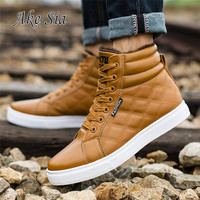 HOT 2017 New Winter Men Warm Cotton Martin Boots Puls Flock Sneakers Leisure Shoes Men Round