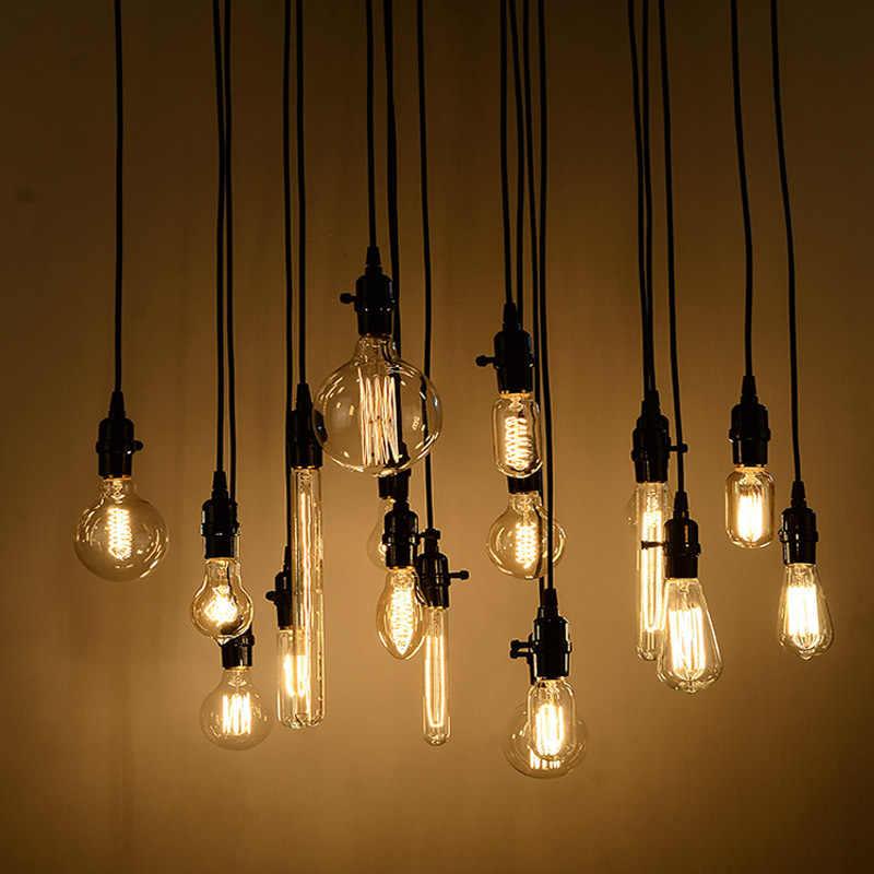 Lámpara Vintage para Loft de Luces colgantes modernas, iluminación Industrial para el hogar E27 85-265V, para decoración, lámpara, Bombilla Edison, Lustre, luminaria